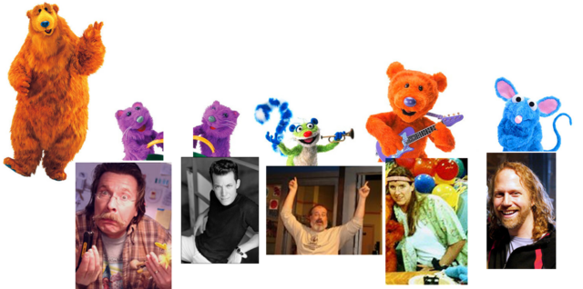 filemuppet wiki behind the scenes bear in the big blue house a berry bear - Bear In The Big Blue House A Berry Bear Christmas