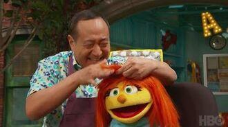 Sesame Street Julia's Haircut (HBO)