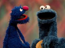 Grover and cookie monster