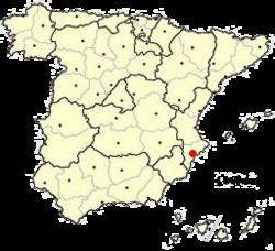 Localización e Alicante