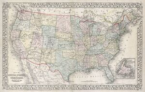 1867 Mitchell Map of the United States - Geographicus - UnitedStates-mitchell-1867