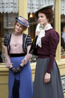 1316 Dr. Julia Ogden (Helene Joy) and Effie Newsome (Clare McConnell) outside Harper Hair Salon