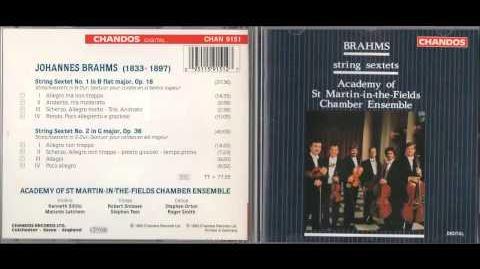 Brahms String Sextet No. 2 in G major, Op