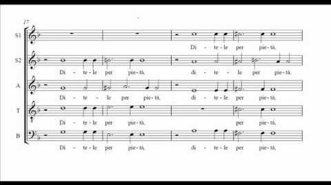 Gesualdo Itene o miei sospiri (score)