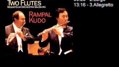 D. Cimarosa - Concerto per 2 flauti e orchestra - Rampal Kudo - Mozarteum Orchestra Salzburg.