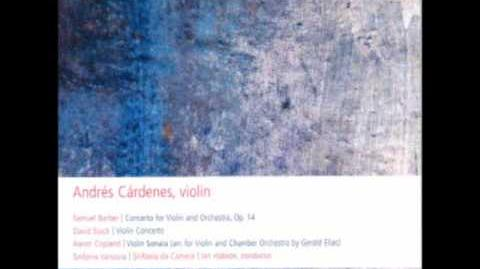 DAVID STOCK Violin Concerto Final Movement - Andres Cardenes, Violin
