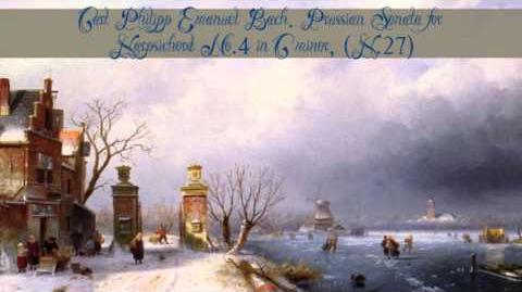 Carl Philipp Emanuel Bach Prussian Sonata for Harpsichord No.4 in C minor, (H