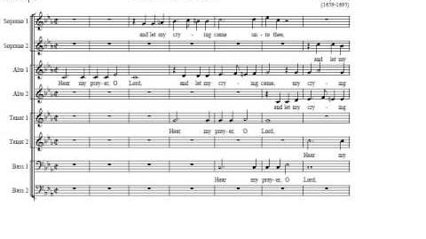 Henry Purcell - Hear My Prayer, O Lord - Oxford Camerata Jeremy Summerly