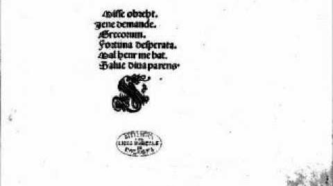 Jacob Obrecht - Missa Fortuna Desperata - II Gloria