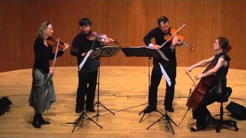 Del Sol String Quartet performs Peradam by Ken Ueno