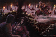 Yosane hunting party by Mikazuki