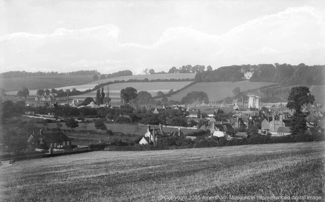 File:1889 - Amersham with St Mary's Church during restoration (9056).jpg