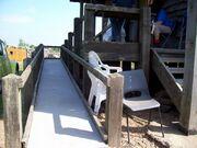 Ramp into granary