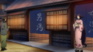 Haru leaving the bath house