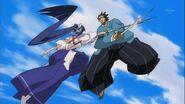 Kanae and Genjuurou duel