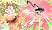 Mitsuki kicks Jinbei