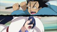 Genjuurou and Kanae begin their fight