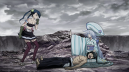 Kuroageha protecting Jinbei from Hibachi