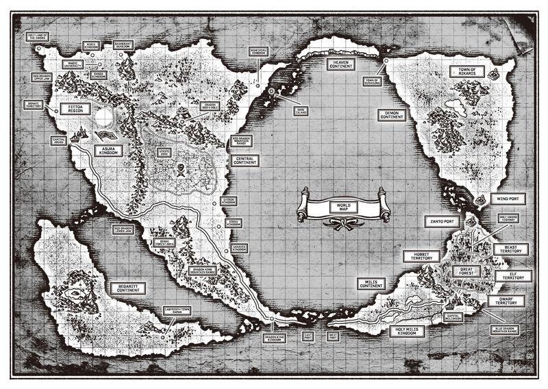 Mushoku Tensei Wold Map