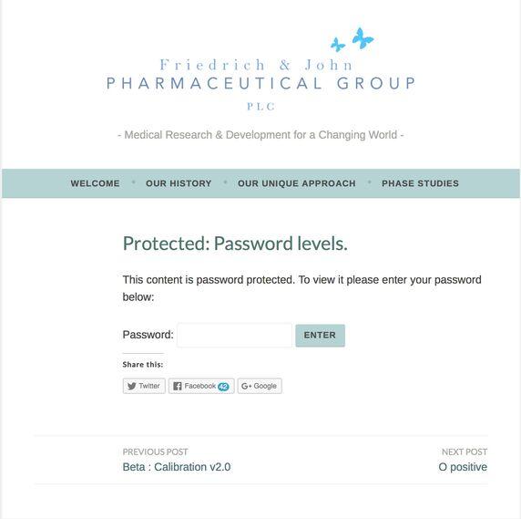 Password Levels
