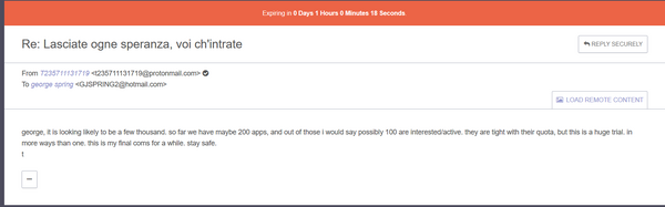 Lasciate ogne email george spring