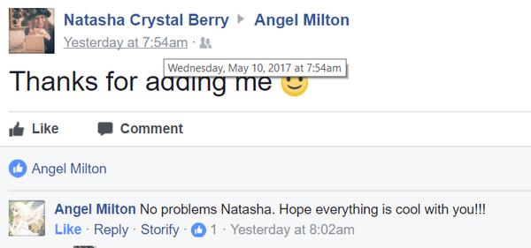Natasha friend request