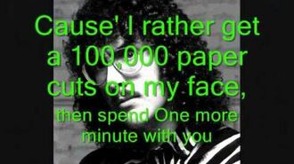 One more minute lyrics