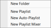 Playlists New