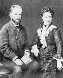 Tchaikovsky with wife Antonina Miliukova