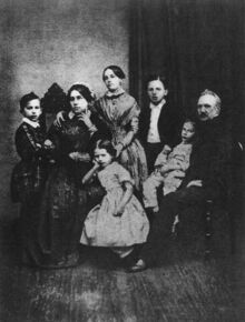 Tchaikovskys family in 1848 From left to right sitting Alexandra Andreevna Tchaikovska Alexandra Ippolit Ilya Petrovitch Tchai Family 2