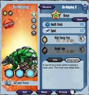 Bronze-bio-hedgehog