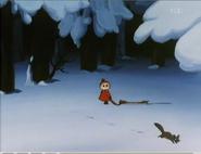 Myy ja juokseva orava.
