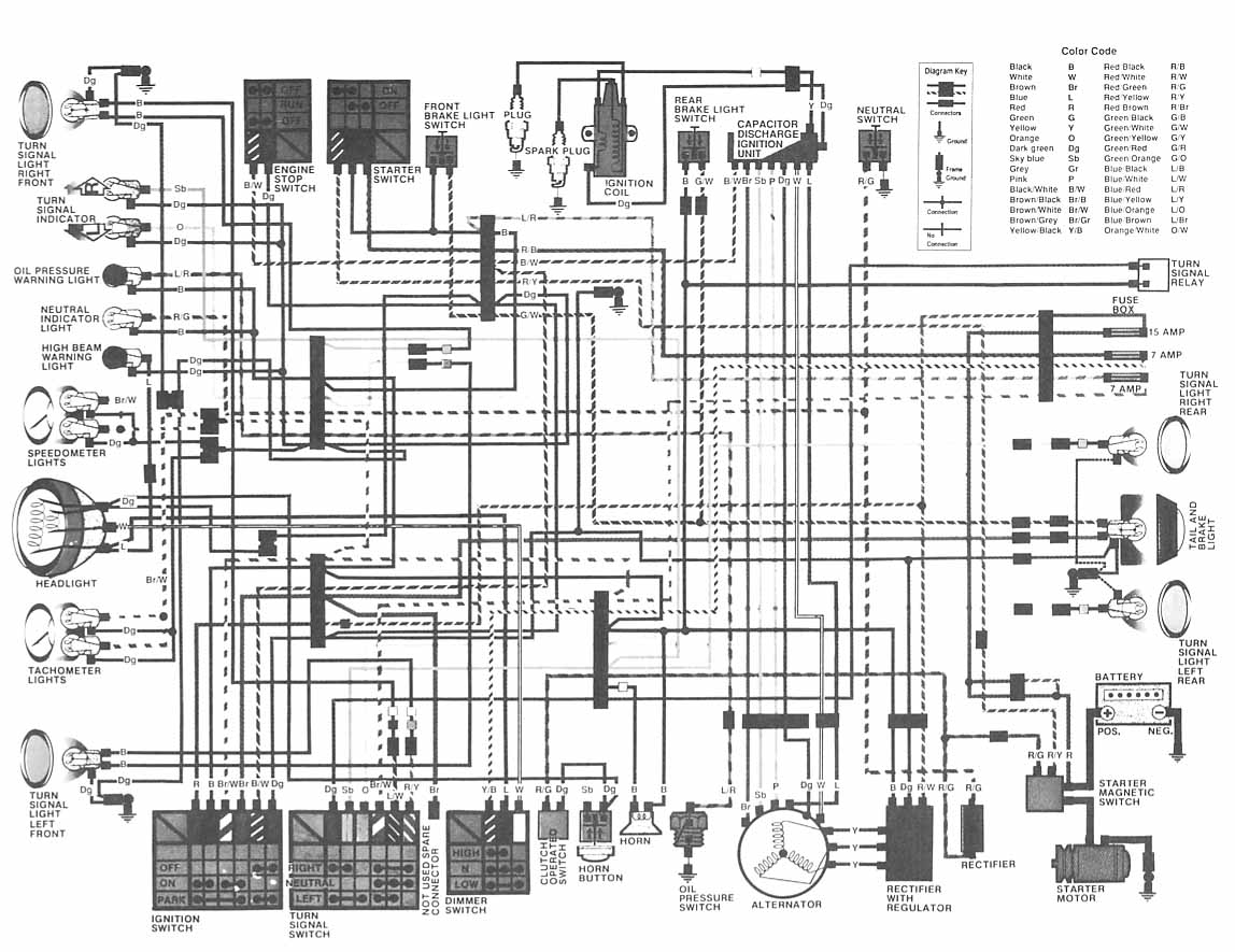 Diagram Of A 1980 Honda Goldwing Wiring Start Building Gl1800 Schematic Cb750 Detailed Diagrams Rh 4rmotorsports Com 1987