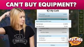 My Cafe Guide How To Buy Equipment At New Levels