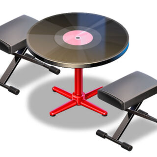 Vinyl Table for Two