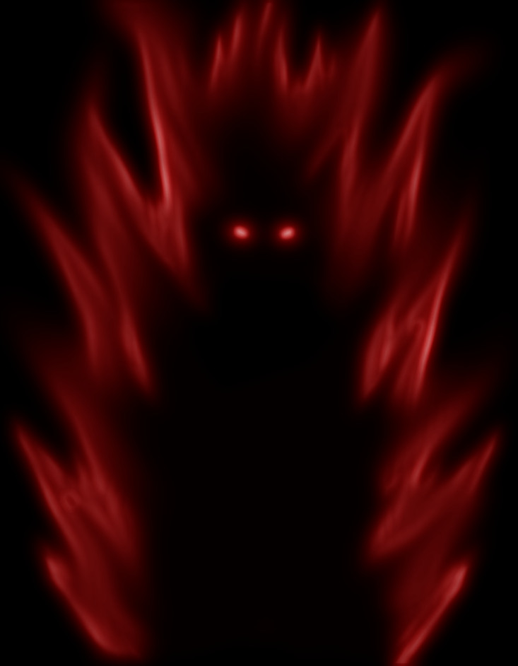 Glowing Red Eyes In The Dark Anime