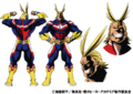 All Might's Anime Colored Character Design