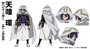 Tamaki Amajiki Heldenkostüm Charakterdesign