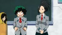 Izuku und Momo werden als Klassensprecher gewählt