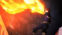 Shoto schießt Feuerstrahlen