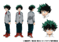 Izuku's Anime Colored Character Design