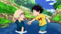 Izuku und Katsuki als Kinder