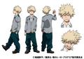 Katsuki's Anime Colored Character Design