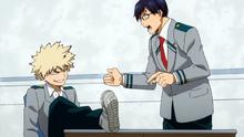 Katsuki und Tenya Streiten