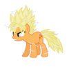Super saiyan applejack by jordanb22-d7lyy7i
