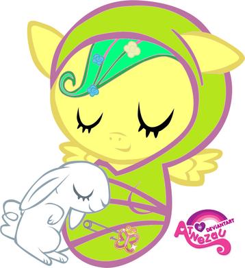 Newborn fluttershy asleep by atnezau-d4mi5b8
