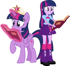 Twilight sparkle and twilight sparkle eg