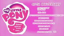 My Little Pony Harmony Rainbows Power Is Magic 40th Anniversary 2024-2025