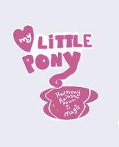 My Little Pony Harmony Rainbows power is Magic Logo 2023