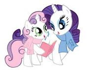 Rarity y sweetie belle